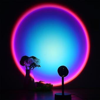 Sunset Lamp Led Sunset Projektori Tunnelma Light Room Makuuhuone Yö Valohuone Luova Sisustus Baari Tunnelma Valokuvaus Tausta