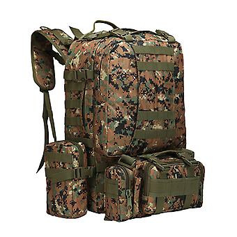 Outdoor Sports Mountaineering Backpack Large Capacity Multifunctional Tactical Army Camouflage Camping Combination Backpack
