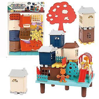 銭ビルディングブロックパズル3cマイクロ3Dフィギュア教育レンガおもちゃ