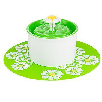 1.6l Fontána Tekoucí voda Cirkulace Pet Feeder Au Green