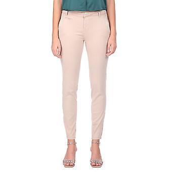 Blå hvit ecru kvinners jeans