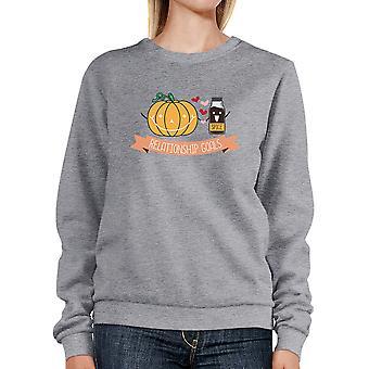 Pumpkin Spice Relationship Goals Couple Matching Sweatshirt Ideas