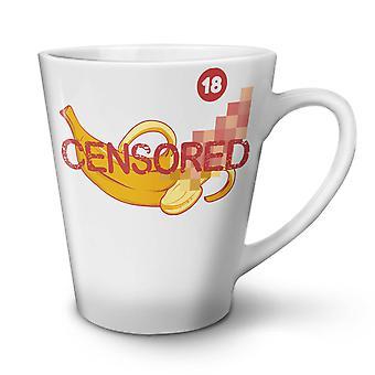 Censored Banana Funny NEW White Tea Coffee Ceramic Latte Mug 12 oz | Wellcoda