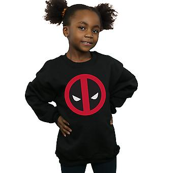 Marvel Girls Deadpool Large Clean Logo Sweatshirt