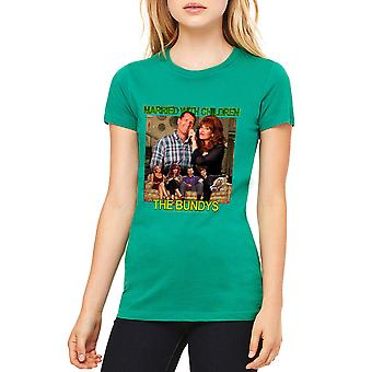 Married With Children The Bundys Women's Kelly Green T-shirt