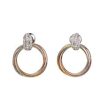 Joop women's earrings cubic zirconia embrace JPER90300B000
