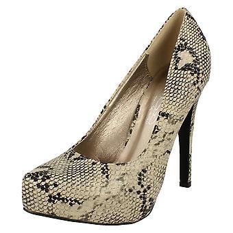Spot de dames sur haut talon plateforme Cour chaussures F9745