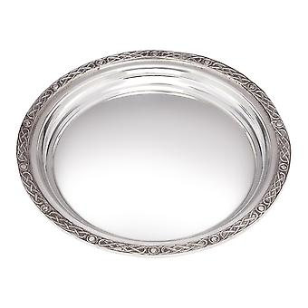 Small Celtic Rim Pewter Tray - 170mm