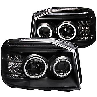 AnzoUSA 111172 Black Projector Headlight for Nissan Pathfinder/Frontier - (Sold in Pairs)