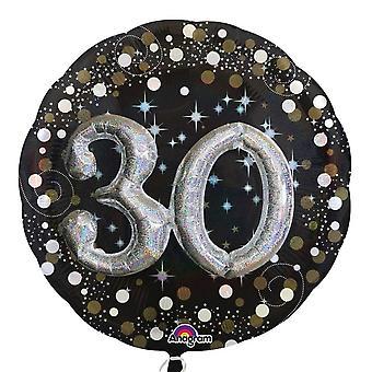 アナグラム輝く 30 誕生日 Supershape バルーン