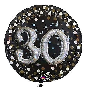 Anagram Sparkling 30 Birthday Supershape Balloon