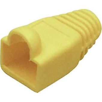 Omituisuus suojaa hiha RJ45 ampua mutka helpotusta keltainen BKL sähköisen 143060 1 PCs()