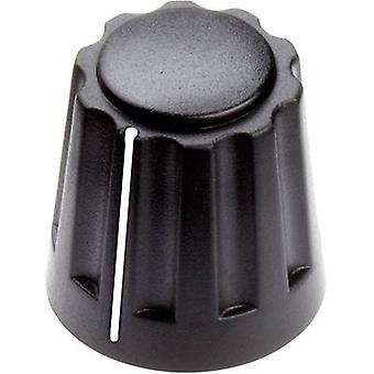 Mentor 4331.4001 Drehknopf + Hand schwarz (Ø x H) 14,5 x 14 mm 1 PC