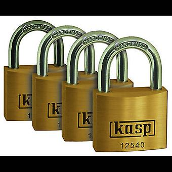 Pack of 4 Padlock 20 mm Kasp K12520D4 Gold yellow Key
