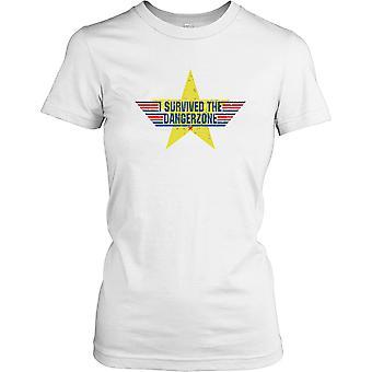 Ich überlebte die Dangerzone - Cool Top Gun Damen T Shirt