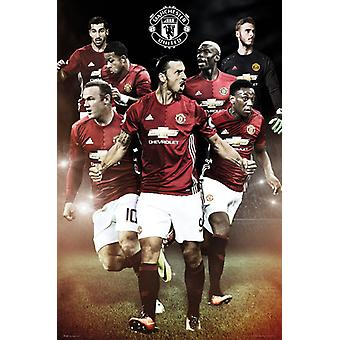 MANCHESTER UNITED Players Poster Poster Print