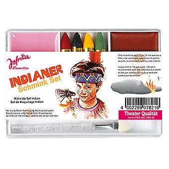 Conjunto de maquiagem indiana