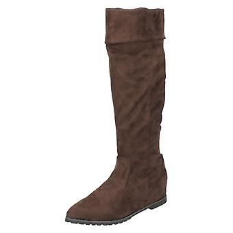 Ladies Spot On Knee Length Boots F4366