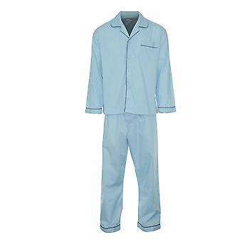 Champion Férfi Pamut Blend Button Első Pizsama Lounge Wear - Kék - 4Xl