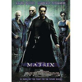 Matrix stil plakat A Keanu Reeves, Laurence Fishburne 98 x 68 cm