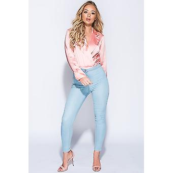 Light Blue Highwaisted Jeggings