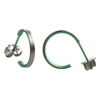TI2 Titanium kleine Creolen - frisches Grün