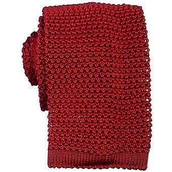 KJ Beckett punto corbata de seda - rojo