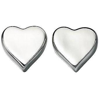 Inizii cuore Stud Earrings - Silver