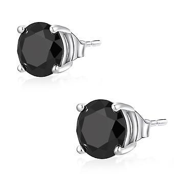 Ear Studs Earrings 925 Sterling Silver Jewellery, Stones Black | 3 - 6 mm