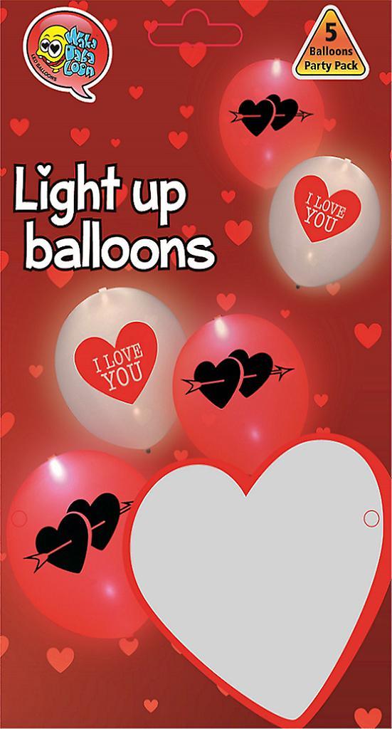 LED-Ballonger I Love You - 25 cm (10