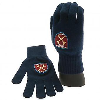 West Ham United strikkede handsker voksne