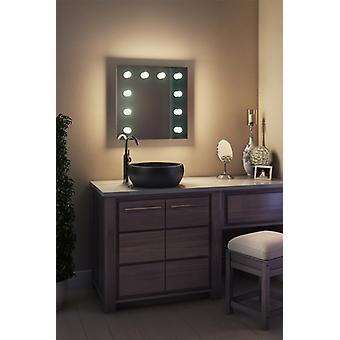 Diamond X Wallmount Hollywood Audio Mirror, k89WWaudbath di Dimmable LED