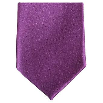 Knightsbridge cravates Slim Polyester Tie - violet