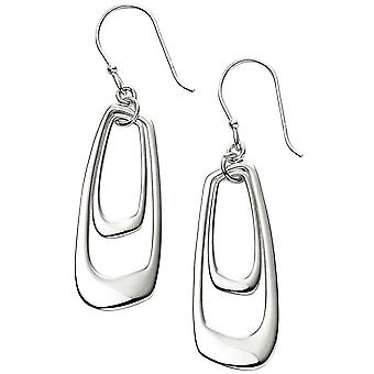 Beginnings Open Abstract Earrings - Silver