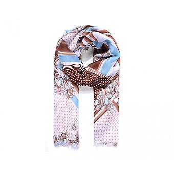 Intrigue Womens/Ladies Spots And Stripes Floral Print Scarf