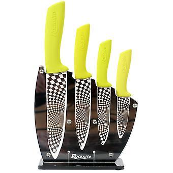 Ensemble de couteau de cuisine vert lime