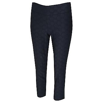 Up! Blue Circles Cropped Pull On Trousers