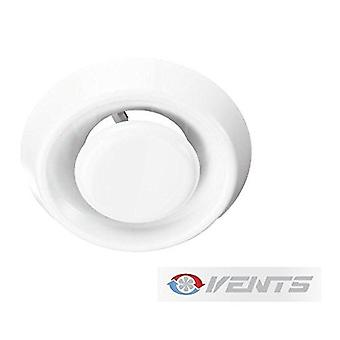 Air Vent Disc Valve - Ceiling / Wall - Adjustable For 100 mm Ducting