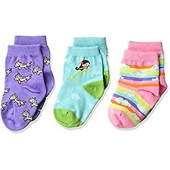 Kid's Crew Socks - K Bell - Mermaid 3Pk Infant Baby Turqoise (12-24)