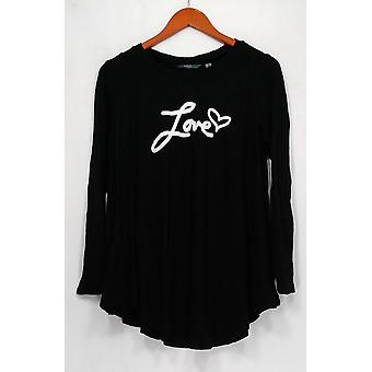 Anybody Sweater Loungewear Brushed Hacci Message Black A292756