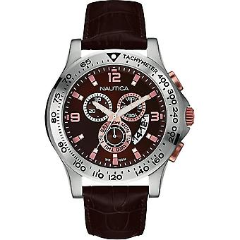 Nautica nst 600 Chrono Quartz Analog Man Watch with NAI19503G Cowskin Bracelet