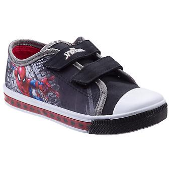 Leomil Kids Spiderman Low Sneakers touch fastening shoe