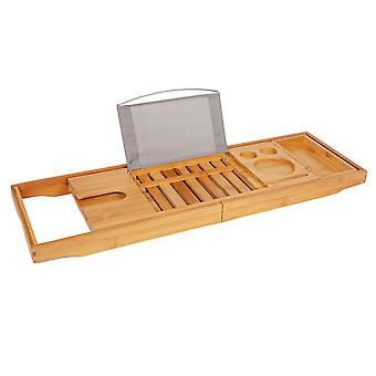 TRIXES Bamboo Bath Caddy Home Spa para banheiros relaxamento universal Fit