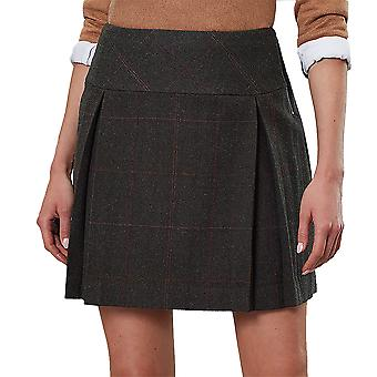 Joules Womens Aggie Herritage Tweed A Line Pleated Rock