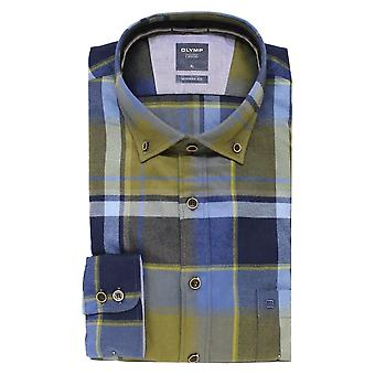 OLYMP Olymp Navy And Green Shirt 4058 47