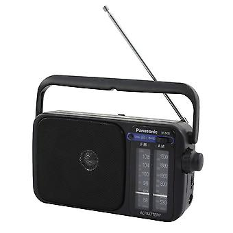 Panasonic Portable Radio AM/FM with AC or DC operation Black (Model No. RF2400)