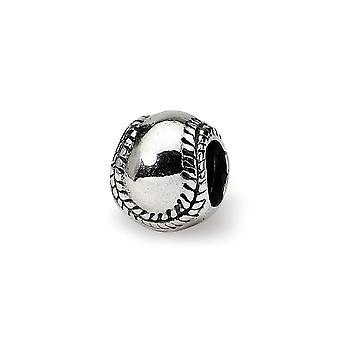 925 Sterling Silber poliert Reflexionen Kinder Softball Perle Anhänger Anhänger Halskette Schmuck Geschenke für Frauen