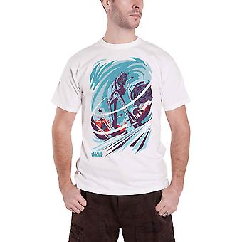 Star Wars T-skjorte AT-AT Empire streik tilbake nye Official mens White