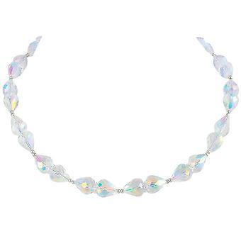 Eternal Collection hienostuneisuus Aurora Borealis Crystal Hopea sävy kaula koru