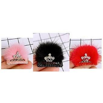 Princess Diamante Crown Dog Hair Clip